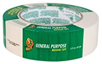 Duck Brand 394697 General Purpose Masking Tape, 1.41-Inch by 60-Yard, Single Roll, Beige