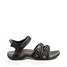 Teva Women\'s Tirra Sandal,Black/Grey,7.5 M US