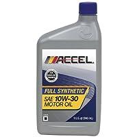 Accel 62701-6PK SAE 10W-30 Full Synthetic Motor Oil - 1 Quart Bottle, (Pack of 6) by Accel