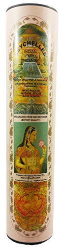 Hand-Rolled Incense Sticks- Pure Sandalwood Ancient Indian Temple Agarbatti Pack Of 5 (100 Sticks)