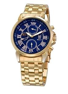 buy Konigswerk Men'S Watch Gold Bracelet Blue Dial Multifunction Day Date Sun Moon Aq101091-1G