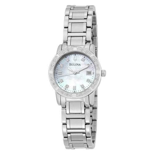 Bulova Women&#8217;s 96R105 Diamond Accented Calendar Watch