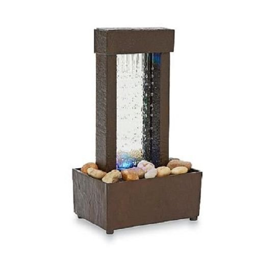 Indoor Tabletop Water Fountain Mini Desk Waterfall Tranquil Home Decor Gift (Mini Waterfall compare prices)