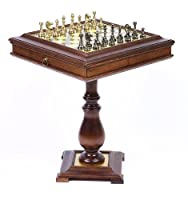 Bello Stefano Chessmen & Venezia Chess Table From Italy