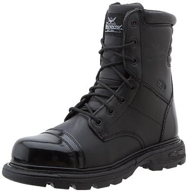 "Thorogood Men's Trooper 8"" Side Zip Boot,Black,4 M US"