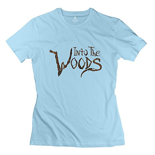 Soulya Women's Into The Woods T-Shirt Size M US SkyBlue (Wood Brothers T Shirt compare prices)