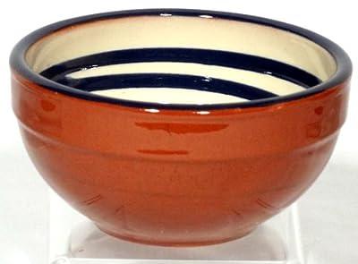Genuine Terracotta 13cm Breakfastdessert Bowl - Creamblue Set Of 2 from Be-Active