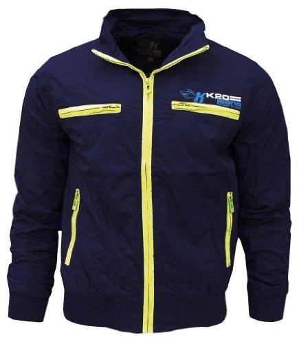K20 Jeans Droid Men's Lightweight Sports Rain Wind Jacket purple/yellow Small