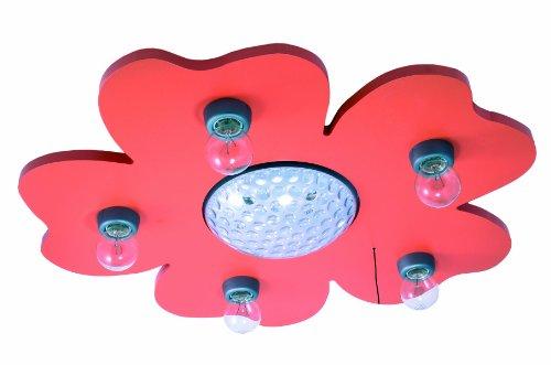 Niermann Standby LED Ceiling Happy Flower Lamp, Orange