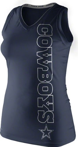 Dallas Cowboys Navy Endzone Womens Dri-Fit Tank Top X-Large at Amazon.com