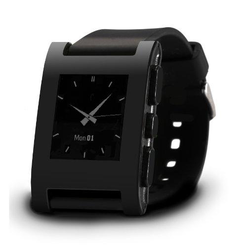 Slickwrapspebble Watch Color Series Matte Skin - Frustration-Free Packaging-Matte Black