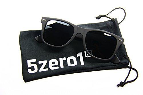 5zero1 Retro Wayfarer Outdoor Aviator Sport Men Women Polarized Sunglasses (Matte Black)