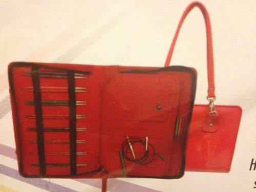 Knitters Pride Thames - Red Faux Leather Knitting Tool Bag from Knitters Pride