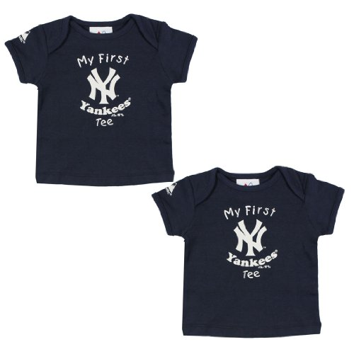 (Pack of 2) MLB New York Yankees Infant My First Tee T-Shirt 24M Dark Blue at Amazon.com