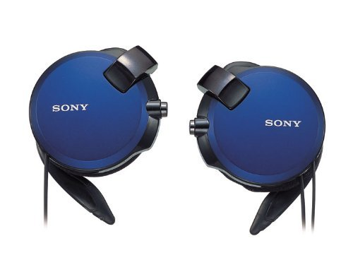Sony Clip-On Stereo Headphones With Double Retractable Cord | Mdr-Q68Lw L Blue (Japanese Imports)