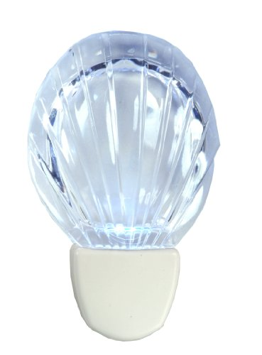 Images for AmerTac 71076 Shell Night Light, White