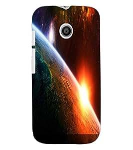ColourCraft The Galaxy Design Back Case Cover for MOTOROLA MOTO E