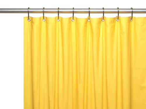 Carnation Home Fashions Hotel Collection Shower Curtain Liner Yellow NEW EBay