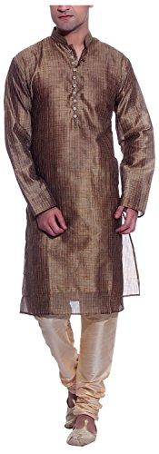 THREADS-Mens-Art-Silk-Kurta-Pyjama