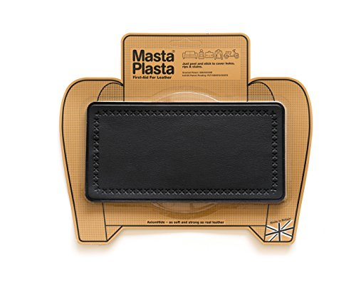 MastaPlasta Peel and Stick First-Aid Leather Repair Band-Aid. Plain design 8-inch by 4-inch. BLACK... (Pleather Repair Kits For Couches compare prices)