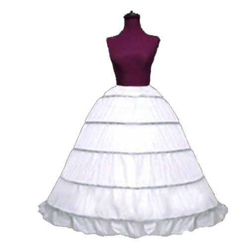 SACAS Adjustable 5 Bone Hoop Skirt Bridal Renaissance Civil War Skirt Slip
