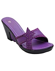 GADGETS Women's Purple Mesh Formals & Lace-Up Flats Shoes - B00Y0LOQ9G