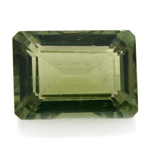 Natural Africa Green Apatite Loose Gemstone Emerald Cut 10*7mm 3.15cts VS Grade