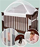 Tots In Mind Crib Tent for Convertible Cribs, White