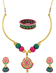 Aakruthi Collections Gold Plated Choker Necklace Set For Women (ACST01)