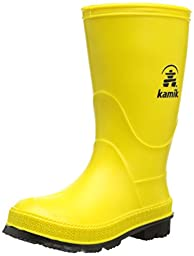 Kamik Stomp Rain Boot (Toddler/Little Kid/Big Kid), Yellow/Black, 9 M US Toddler