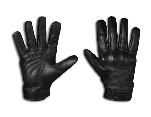 StrongSuit 20300-L Voyager Leather Motorcycle Gloves, Large