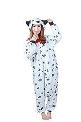 wotogold Animal Cosplay Costume Dalmatian Onesies Unisex-adult Pajamas Cartoon Sleepwear