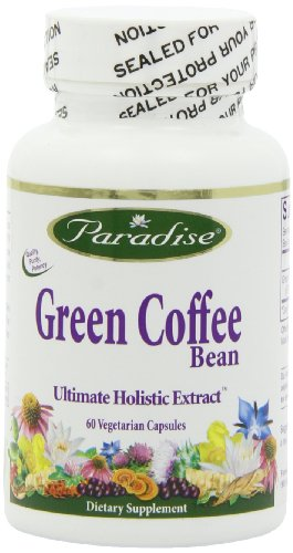 Paradise Herbs Vegetarian Capsules, Green Coffee Bean, 60 Count