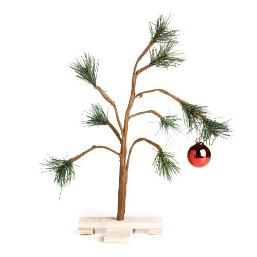 Peanut Christmas Tree: Peanuts Charlie Brown Christmas Tree–14″