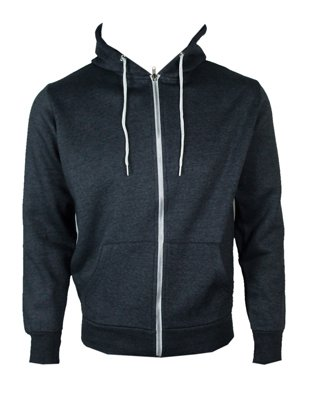 The Home of Fashion Mens Fleece Lined Hooded Jumper-XS -Charcoal Grey