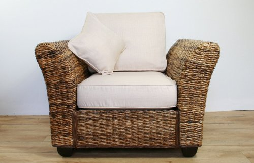 Conservatory furniture KINGSTON ABACA (Banana leaf) Designer Armchair