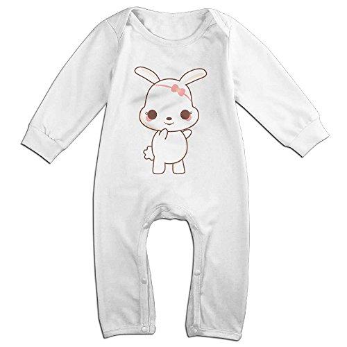 Posit-Babys-Lovely-Rabbit-Boys-Girls-Kids-Creeper-Romper-Bodysuits-Jumpsuits-Size-US-White