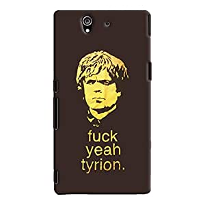 ColourCrust Sony Xperia Z Mobile Phone Back Cover With Tyron From Game Of Thrones - Durable Matte Finish Hard Plastic Slim Case