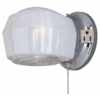 Boston harbor w39ch01ls3447 1 light wall mount bathroom light fixture w pull chain wall Bathroom light fixtures ceiling mount