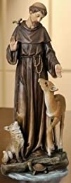 Renaissance St. Francis with Deer Figurine