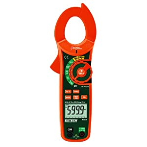 Extech MA620 True RMS AC 600A Clamp Meter with Non-Contact Voltage Detector
