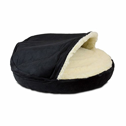 Snoozer Luxury Cozy Cave, Small, Black (Color: Black, Tamaño: Small)