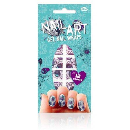 Npw Nail Gel Nail Wraps - Peacock