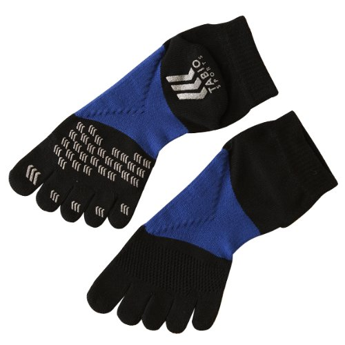 (Tabio) レーシングラン five finger socks 25-27 cm black