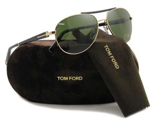 New Tom Ford TF0113 Camillo Rose Gold/Brown w/ Green