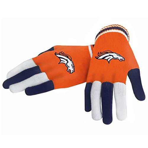 Nfl football 2014 multi color team logo knit gloves pick for Denver broncos colors