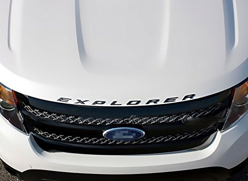 Salusy Front Hood Explorer Letters Emblem for Ford Explorer 2011-2016 (Black) (Ford Emblem Back Of Explorer compare prices)