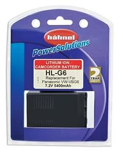 Hähnel 10001706 HL-G6 Batterie li-ion type Panasonic VW-VBG6 7,2 V, 5400 mAh (Import Allemagne)
