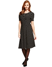 M&S Collection Zig Zag Spotted Tea Dress