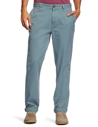 Farah 1920 The Rush Chino Straight Men's Trousers Storm Blue W34 INxL32 IN
